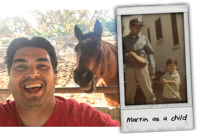 Martin and his horse