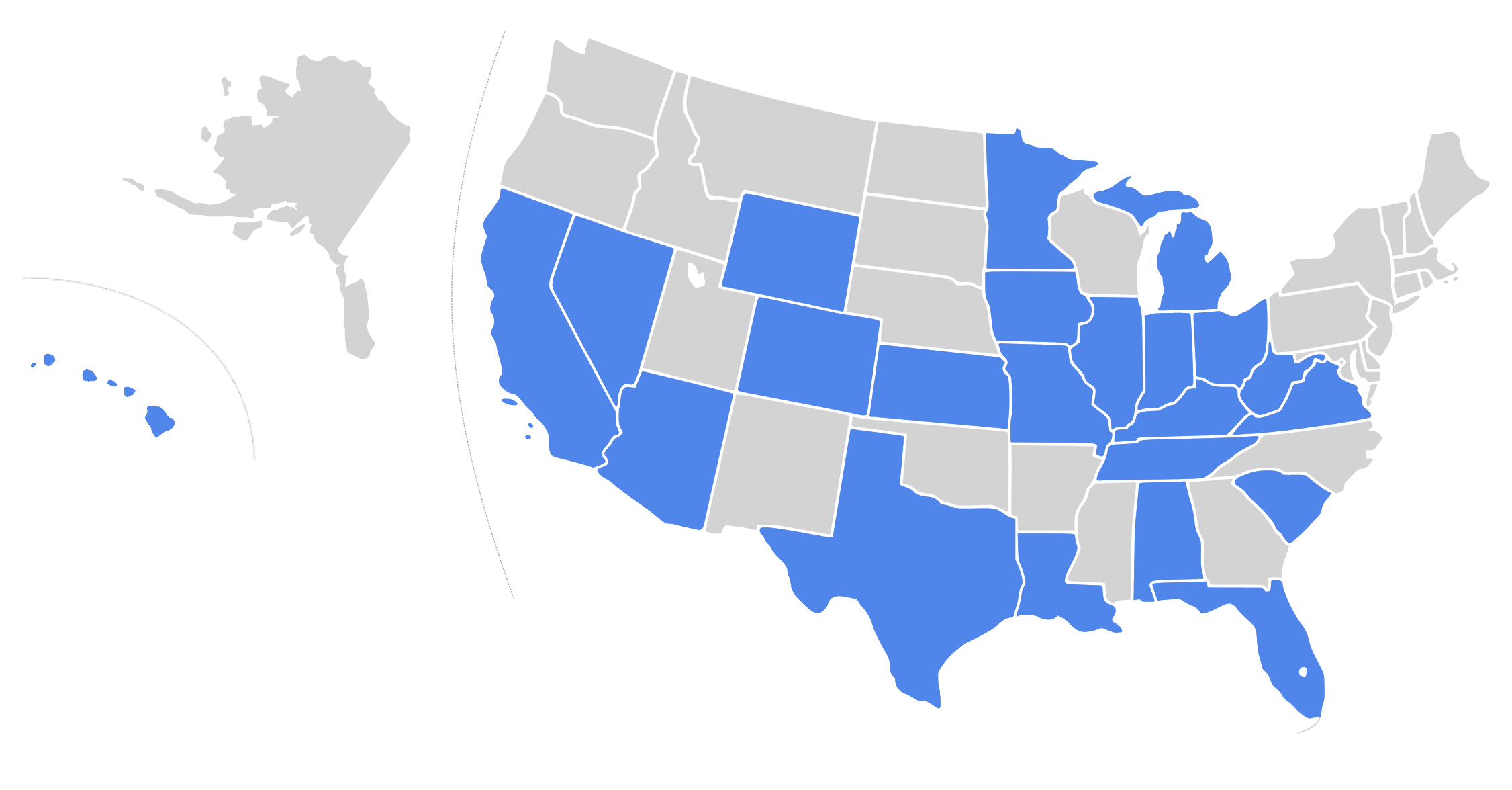 GBIS Licensed States